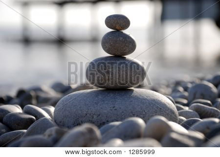 Pebbles On A Seashore