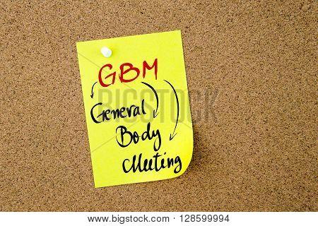 Business Acronym Gbm General Body Meeting