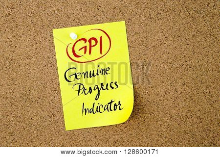 Business Acronym Gpi Genuine Progress Indicator