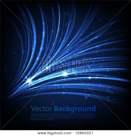 Blue waveform vector background