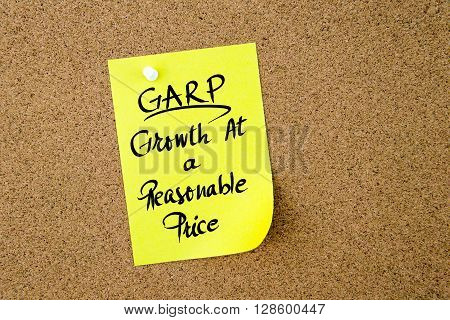 Business Acronym Garp Growth At A Reasonable Price