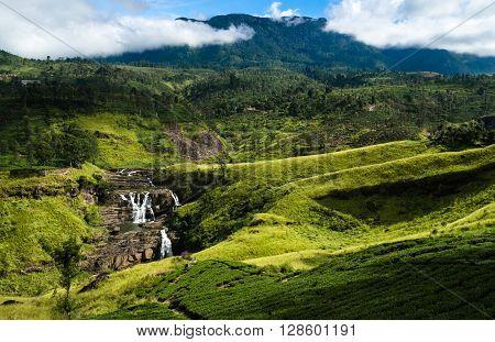 Water fall in Nuwara Eliya, Sri Lanka