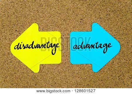 Message Disadvantage Versus Advantage