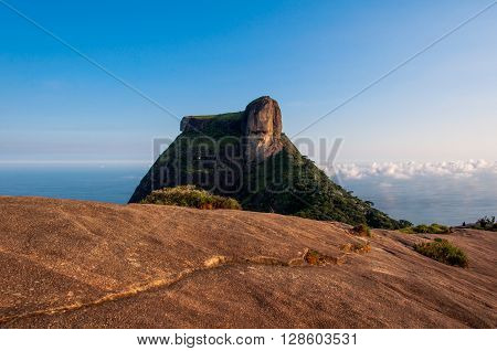 Pedra da Gavea Mountain Peak, Famous Rock Formation in Rio de Janeiro, Brazil