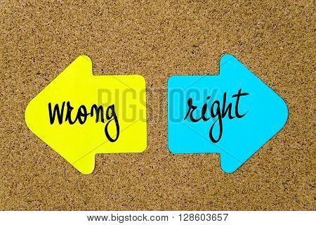 Message Wrong Versus Right