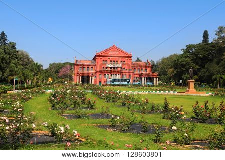 BANGALORE, INDIA - Dec 13: Karnataka state central library on Dec 13, 2015. Karnataka state central library was built in 1915 ,completes 100 years in 2015.