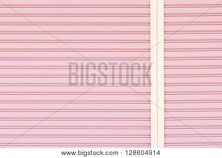 corrugated metal door background and texture surface