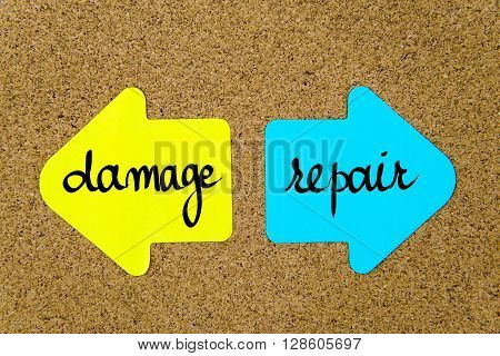 Message Damage Versus Repair