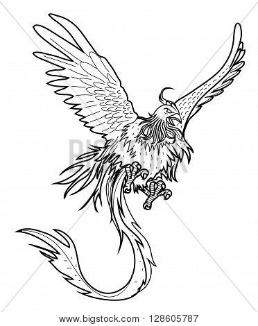 Illustration of phoenix .eps10 editable vector illustration design