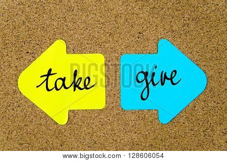 Message Take Versus Give