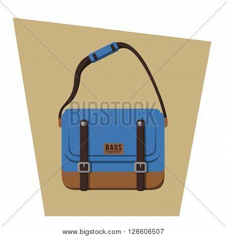 Flat bag illustration .eps10 editable vector illustration design