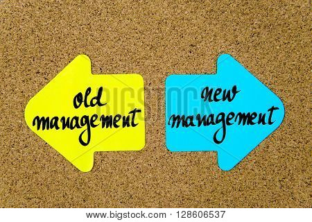 Message Old Management Versus New Management