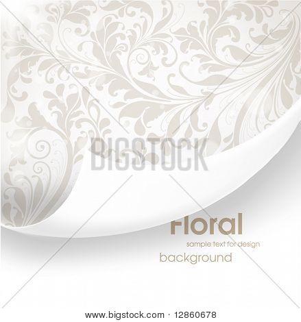 Zerrissene seamless floral Background für Vintage-Design. Freier Platz für Text. Licht Ornament mit abstrac