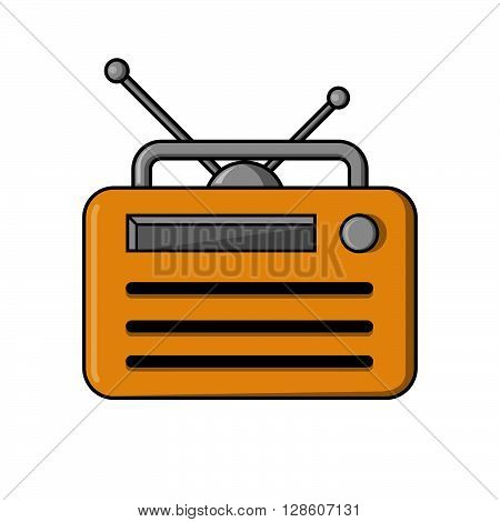 Old radio Illustration .eps10 editable vector illustration design