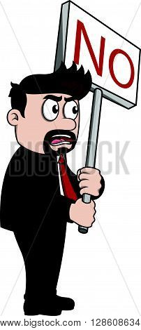 employee demonstration, protest .eps10 editable vector illustration design