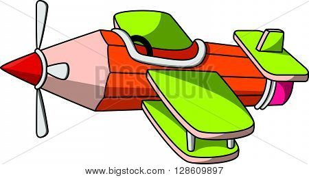 Pencil Plane toy craft cartoon illustration  .eps10 editable vector illustration design