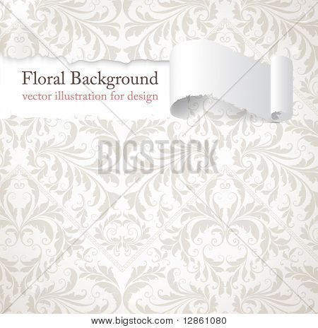 zerrissene seamless floral Background für Vintage-Design. freie Stelle für Text. Licht Ornament mit Produktportfolios
