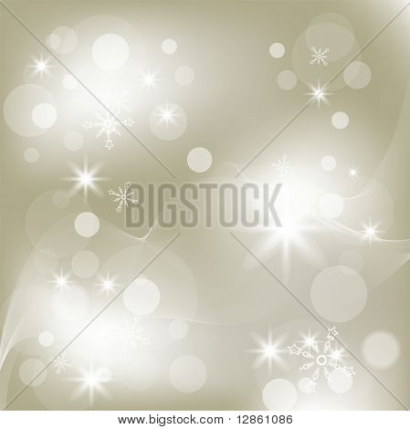 Vector Christmas background with white snowflakes and place for your text