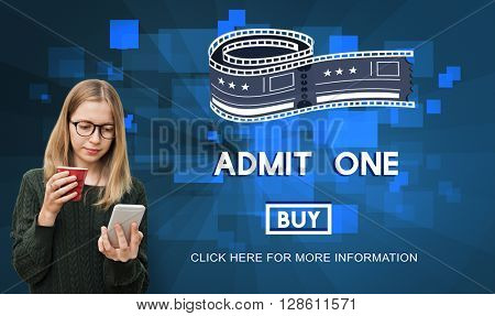 Movie Cinema Ticket Graphic Concept