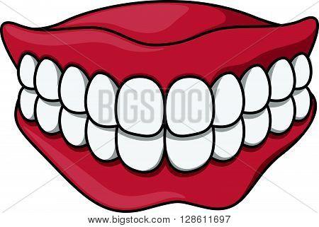 dentures cartoon illustration .eps10 editable vector illustration design