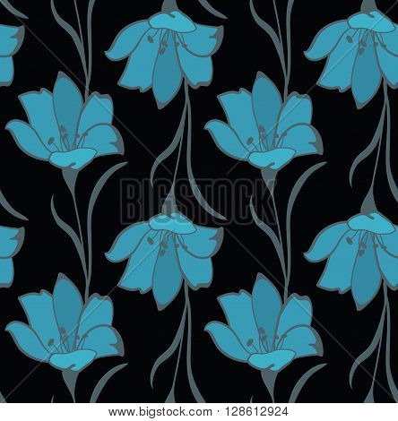 Seamless Flower  Buttercup  Pattern. Summer background garden