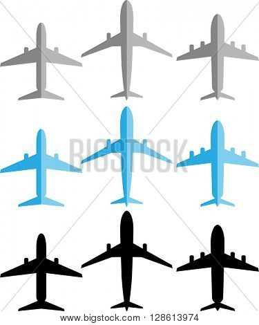 Airplane (Aeroplane) Icon Set