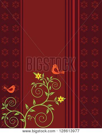 Card Design Artistic Bird