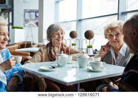 Tea in cafe