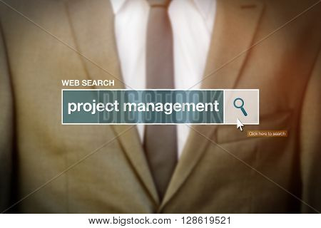 Web search bar glossary term - project management definition in internet glossary.
