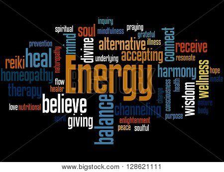 Energy, Word Cloud Concept