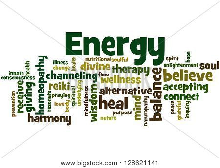 Energy, Word Cloud Concept 3