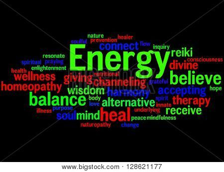 Energy, Word Cloud Concept 5