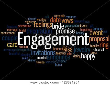 Engagement, Word Cloud Concept