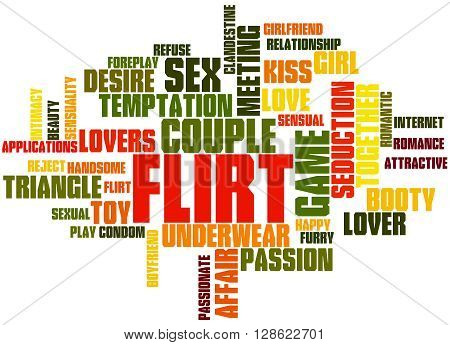 Flirt, Word Cloud Concept 6