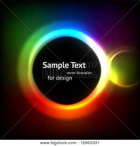 Abstract Colorful Rainbow Fantasy Lights Background