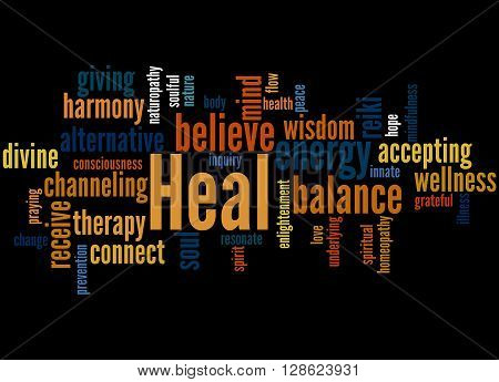 Heal, Word Cloud Concept 3