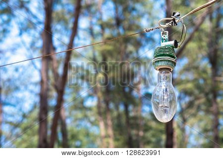Light bulb for outdoor use. concept of light bulb.