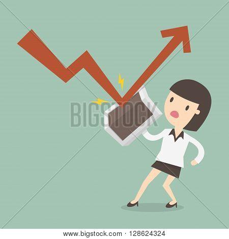 Profit shield eps 10 vector illustration. Business Concept Cartoon Illustration.