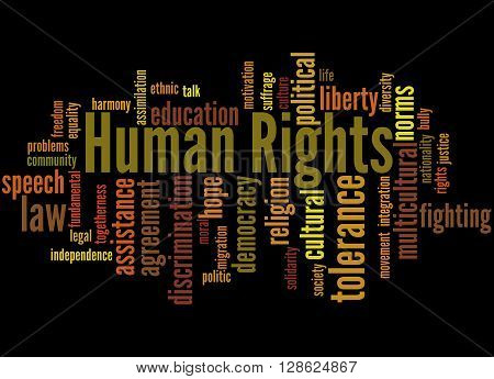 Human Rights, Word Cloud Concept