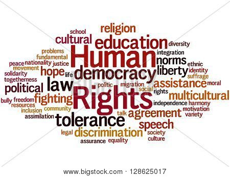 Human Rights, Word Cloud Concept 5