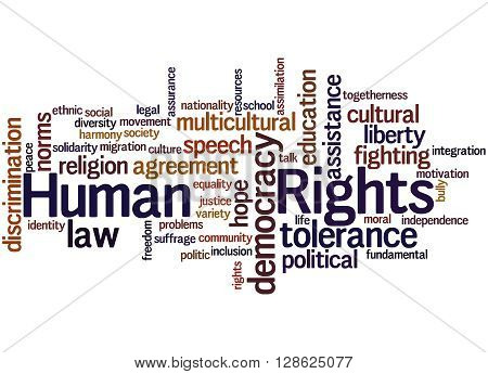 Human Rights, Word Cloud Concept 8