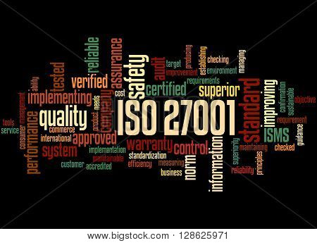 Iso 27001 - Information Security Management, Word Cloud Concept 3