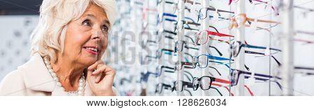 Glasses Display At Store