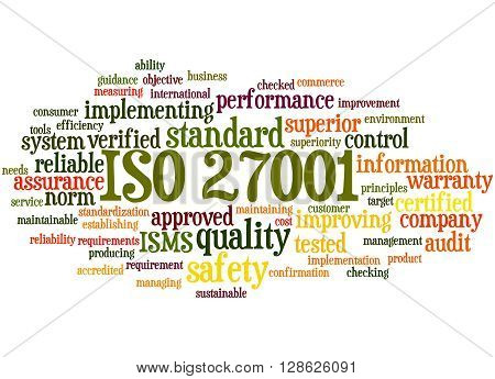 Iso 27001 - Information Security Management, Word Cloud Concept 6