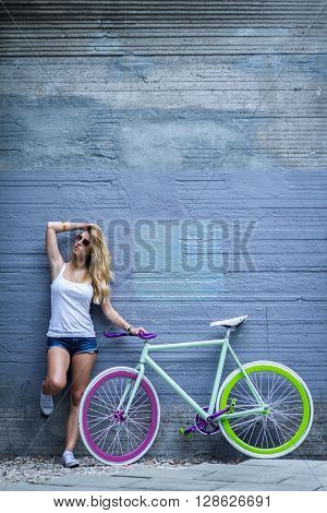 Standing With A Bike