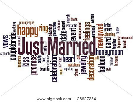 Just Married, Word Cloud Concept 2