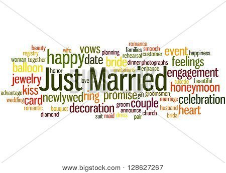 Just Married, Word Cloud Concept 4