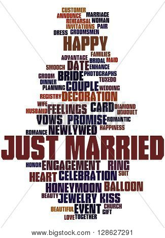 Just Married, Word Cloud Concept 6