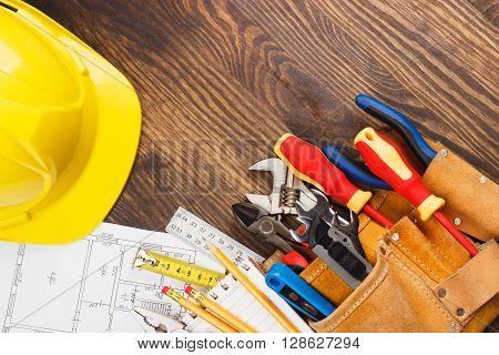 Set Of Construction Tools