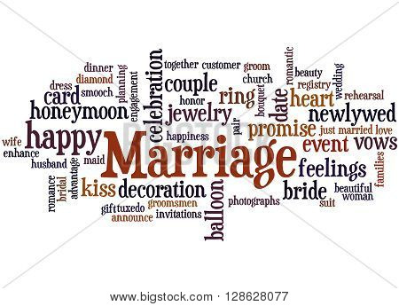 Marriage, Word Cloud Concept 4